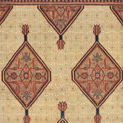 Detail of Serab Camelhair Antique rug