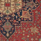 Detail of Persian Serapi antique rug