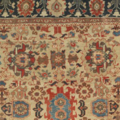 detail of a Persian Sultanabad antique rug