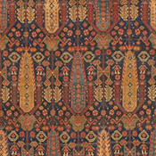 detail of a persian Malayer antique rug