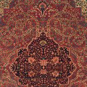 detail of an antique ferahan sarouk persian rug
