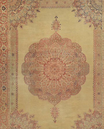Antique Persian Oriental Carpet Hadji Jallili Tabriz 13ft 4in x18ft 8in