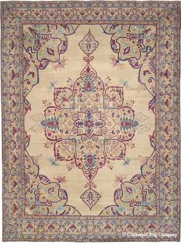 mid-19th century, oversize Laver Kirman carpet
