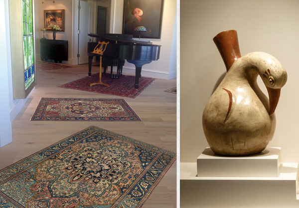 Over 150-year-old Bakshaish carpet in a collector's contemporary home.