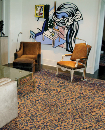 Persian Oversize Carpet Pairs Perfectly with Modern Art