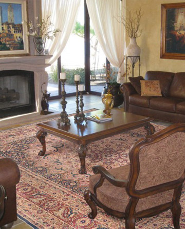 Laver Kirman rug in sophisticated room
