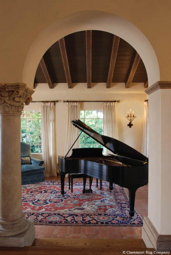 Persian Serapi Rug in Piano Room