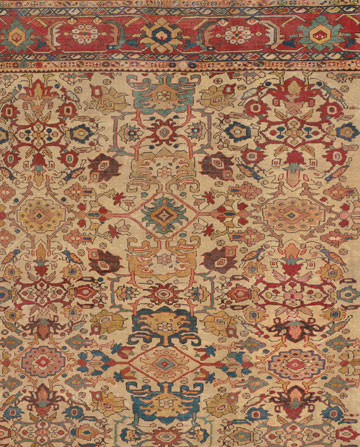 Antique Caucasian Sultanabad Rug 9ft x11ft 11in