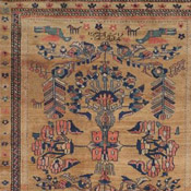 Oriental Antique Kurdish Rug in Camel Hair