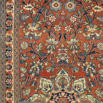 Northeast Persian Dorasht Antique Rug