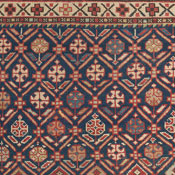 Antique Persian Caucasian Collectible Daghestan Rug 3ft 10in x5ft 3in