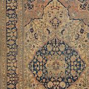 Antique Persian Mohtasham Kashan Rug 4ft 5in x7ft