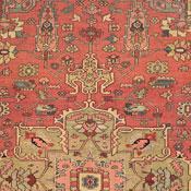 Antique Serapi, Northwest Persian, 9ft 10in X 11ft 3in, Circa 1875