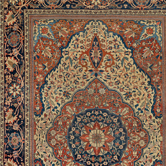 Mohtasham Kashan Central Persian 19th Century Rug