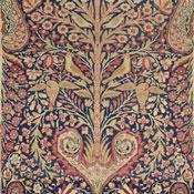 laver kirman tree of life antique carpet