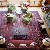 Palace Size Persian Sultanabad Antique Rug In Rustic Great Room