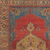 Vibrant Serapi room size antique Persian Rug
