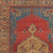Vibrant Serapi room size antique Persian Rug